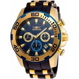 INVICTA MODEL  22341 PRO DIVER SCUBA MEN'S QUARTZ GOLD CASE, BLUE DIAL -