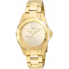 INVICTA MODEL 21697 ANGEL WOMENS QUARTZ 38MM GOLD CASE GOLD DIAL -