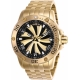 INVICTA SPEEDWAY TURBINE MENS AUTOMATIC 49MM GOLD CASE GOLD, BLACK DIAL - MODEL 25850