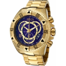 INVICTA MODEL 6469 EXCURSION QUARTZ WATCH - GOLD CASE WITH GOLD TONE STAINLESS STEEL BAND -