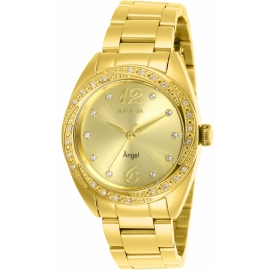 INVICTA MODEL 27457 ANGEL WOMENS QUARTZ 35 MM GOLD CASE GOLD DIAL -