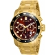 Pro Diver Chronograph Brown Dial Gold-plated Men's Watch 80065