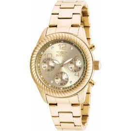 INVICTA  MODEL 20266 ANGEL QUARTZ WATCH - GOLD CASE WITH GOLD TONE STAINLESS STEEL BAND -
