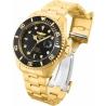 Invicta Pro Diver model 28948 Automatic 47m Gold, black
