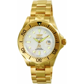 INVICTA MODEL 3052 PRO DIVER AUTOMATIC WATCH - GOLD CASE WITH GOLD TONE STAINLESS STEEL BAND -