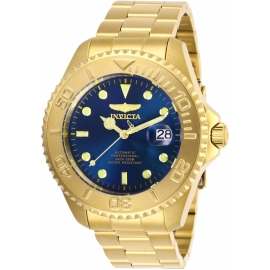 Invicta Pro Diver model 28951, Automatic 47m , Gold and Blue