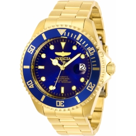 Invicta Pro Diver model 28949, Automatic 47m,Gold and Blue