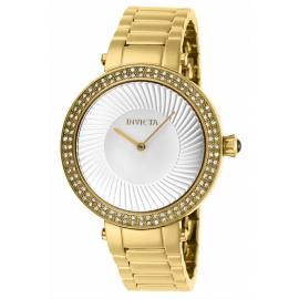 INVICTA MODEL 27004 SPECIALTY WOMENS QUARTZ 38 MM GOLD CASE SILVER DIAL -