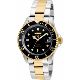 INVICTA PRO DIVER MEN'S AUTOMATIC 40MM GOLD, STAINLESS STEEL CASE BLACK DIAL - MODEL 8927OB