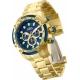 INVICTA SPEEDWAY MENS QUARTZ 50 MM GOLD CASE BLUE DIAL - MODEL 28659