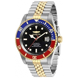 INVICTA PRO DIVER MENS AUTOMATIC 42 MM STAINLESS STEEL, GOLD CASE BLACK DIAL - MODEL 29180