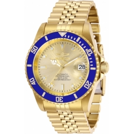 INVICTA PRO DIVER MENS AUTOMATIC 42 MM GOLD CASE CHAMPAGNE DIAL - MODEL 29185