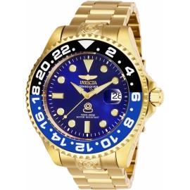 INVICTA PRO DIVER MENS AUTOMATIC 47 MM GOLD CASE BLUE DIAL - MODEL 27971