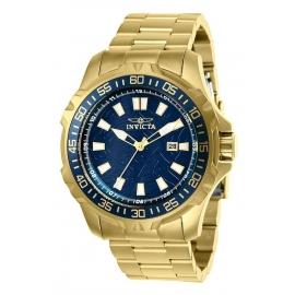 INVICTA PRO DIVER MENS QUARTZ 48MM GOLD CASE BLUE DIAL - MODEL 25793