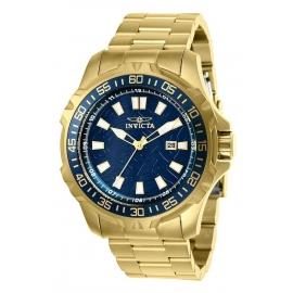 INVICTA PRO DIVER MENS QUARTZ 48MM GOLD CASE BLUE DIAL - MODEL 25793
