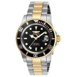INVICTA PRO DIVER MENS QUARTZ 40 MM STAINLESS STEEL CASE BLACK DIAL - MODEL 26973