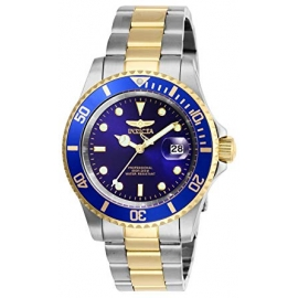 INVICTA PRO DIVER MENS QUARTZ 40 MM STAINLESS STEEL CASE BLUE DIAL - MODEL 26972