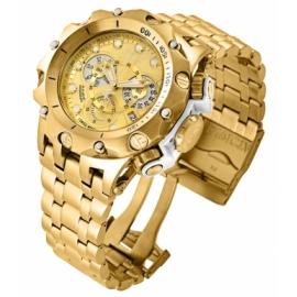 INVICTA RESERVE VENOM MENS QUARTZ 51 MM GOLD, WHITE CASE GOLD DIAL - MODEL 27792