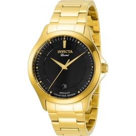 Invicta Men's 31125 Specialty Quartz 2 Hand Black Dial Watch