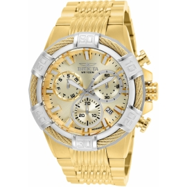 Invicta 25868 Bolt Mens Quartz 51mm Gold Case Swiss Made Movement.