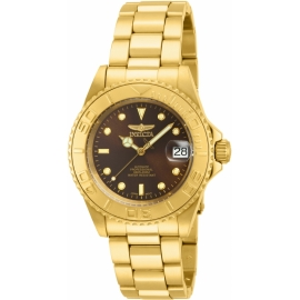 Pro Diver  15847 Brown Dial Gold Ion-plated Men's Watch Item No.