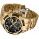 Invicta Bolt Mens Quartz 51mm Gold Case Black Dial - Model 25867