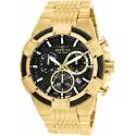 Invicta 25867 Bolt Mens Quartz 51mm Gold Case Black Dial , swiss Movement
