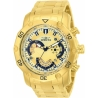 Invicta 22761 Pro Diver Mens Quartz 50mm Gold Case Black Dial
