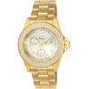 INVICTA ANGEL WOMENS QUARTZ 40MM GOLD CASE WHITE DIAL - MODEL 23576