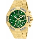 Invicta Bolt Mens Quartz 51mm Gold Case Green Dial - Model 25869