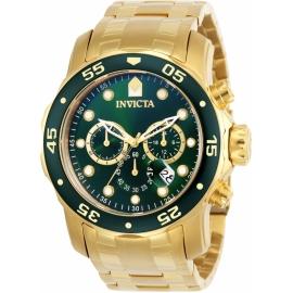 Invicta 0075 Pro Diver Swiss Movement Quartz Watch - Gold Case