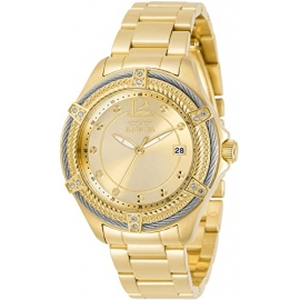 Invicta Bolt Womens Quartz 38mm Gold Case Gold Dial - Model 30880