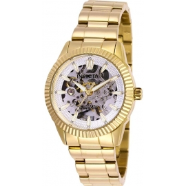 Invicta Women's 26363 Objet D Art Automatic 3 Hand Silver Dial Watch