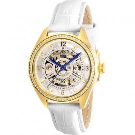 INVICTA WOMEN'S 26352 OBJET D ART AUTOMATIC 3 HAND WHITE DIAL WATCH