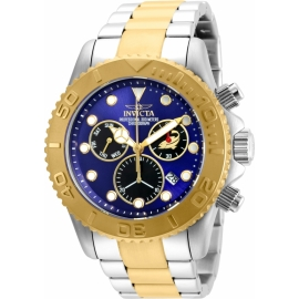 INVICTA PRO DIVER SWISS MOVEMENT QUARTZ WATCH - GOLD, STAINLESS STEEL CASE WITH STEEL,  - MODEL 20346