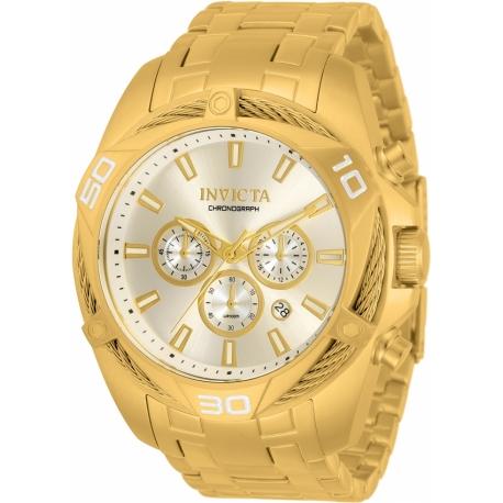 Invicta Bolt Chronograph Quartz Gold Dial Men's Watch 34123