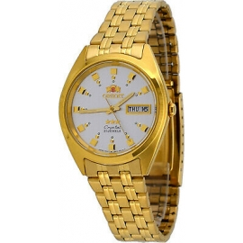 Orient FAB0000CW Men's 3 Star Standard Gold Tone Silver-White Dial Automatic