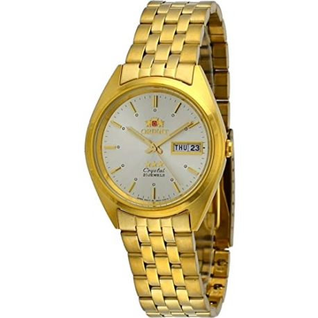 Orient FAB0000FC Men's 3 Star Standard Gold Tone Gold Dial Automatic Watch