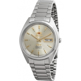 Orient FAB00005C Men's 3 Star Stainless Steel Champagne Dial Day Date Automatic Watch