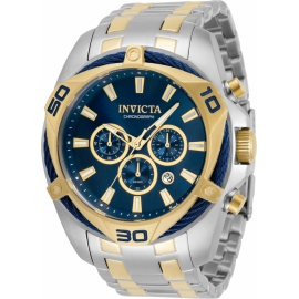 Invicta 34125 Bolt Men's Watch 50mm Blue Dial Chronograph