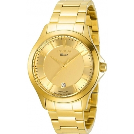 Invicta Men's 31124 Specialty Quartz 2 Hand Gold Dial Watch