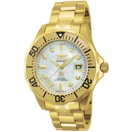 INVICTA PRO DIVER AUTOMATIC WATCH - GOLD CASE WITH GOLD TONE STAINLESS STEEL BAND - MODEL 13939