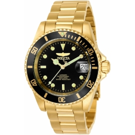 INVICTA  8929OB PRO DIVER AUTOMATIC - GOLD CASE AND SILVER TONE