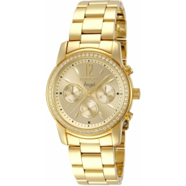INVICTA ANGEL SWISS MOVEMENT QUARTZ WATCH - GOLD CASE WITH GOLD TONE STAINLESS STEEL BAND - MODEL 11770