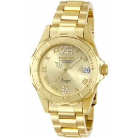 INVICTA ANGEL SWISS MOVEMENT QUARTZ WATCH - GOLD CASE WITH GOLD TONE STAINLESS STEEL BAND - MODEL 14397