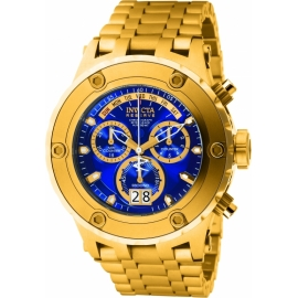 INVICTA SUBAQUA QUARTZ WATCH - GOLD CASE WITH GOLD TONE STAINLESS STEEL BAND - MODEL 1567