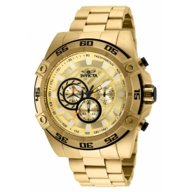 INVICTA 25535 SPEEDWAY MENS QUARTZ 52MM GOLD CASE GOLD DIAL