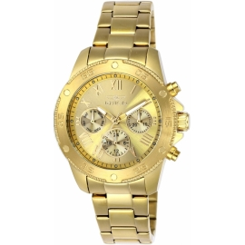 INVICTA WILDFLOWER WOMEN'S QUARTZ GOLD CASE, GOLD DIAL -MODEL  21731