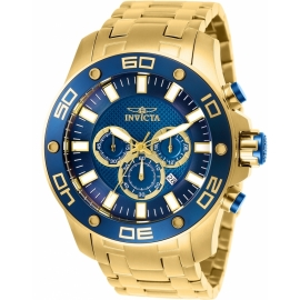 INVICTA 26078 PRO DIVER MENS QUARTZ 50MM GOLD CASE