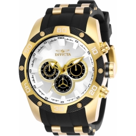 INVICTA 25834 SPEEDWAY GOLD CASE AND GROMED BAND